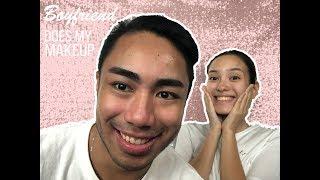Boyfriend Does My Makeup Challenge   Bea Arboleda