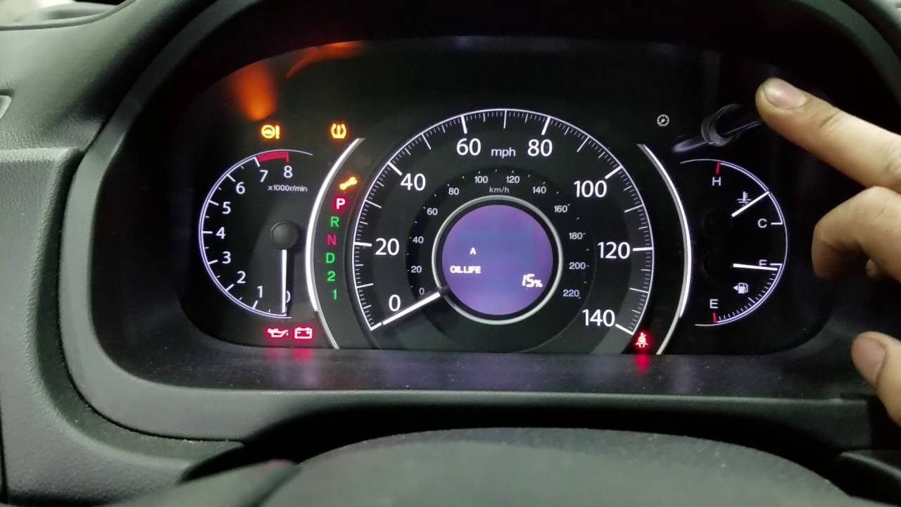 2014 Honda CR V Reset Change engine Oil light - YouTube