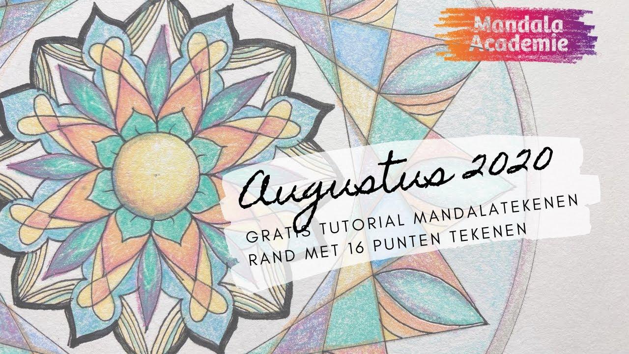 Maandelijkse Mandala Augustus 2020 - 16 puntige ster