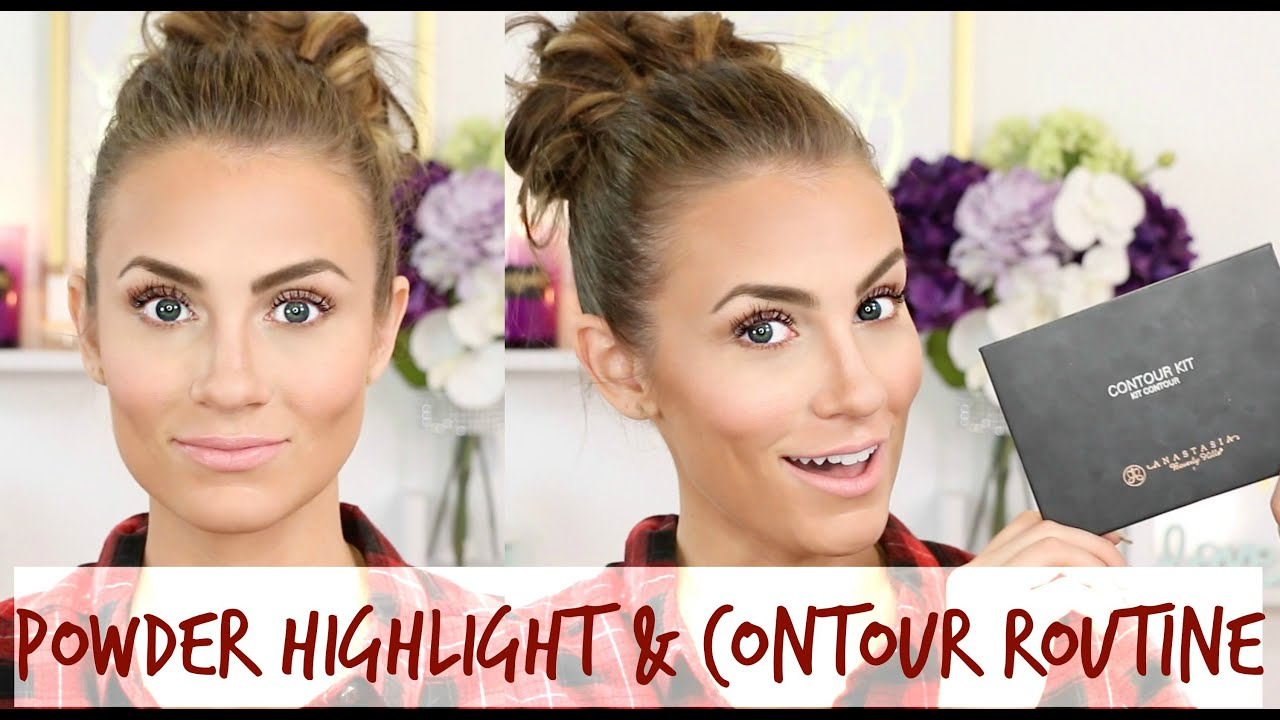 How To: Highlight & Contour With Powder  Anastasia Beverly Hills Contour  Kit Tutorial & Review