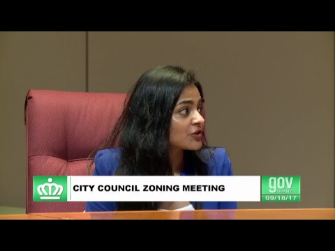 Charlotte, NC City Council Zoning Meeting 9-18-2017