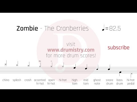 The Cranberries - Zombie Drum Score