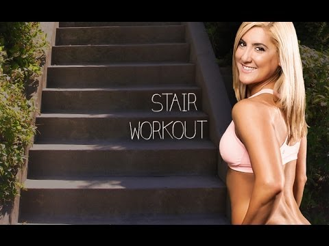 Stair Sprints Cardio Workout (HIIT on the Santa Monica Stairs!!)