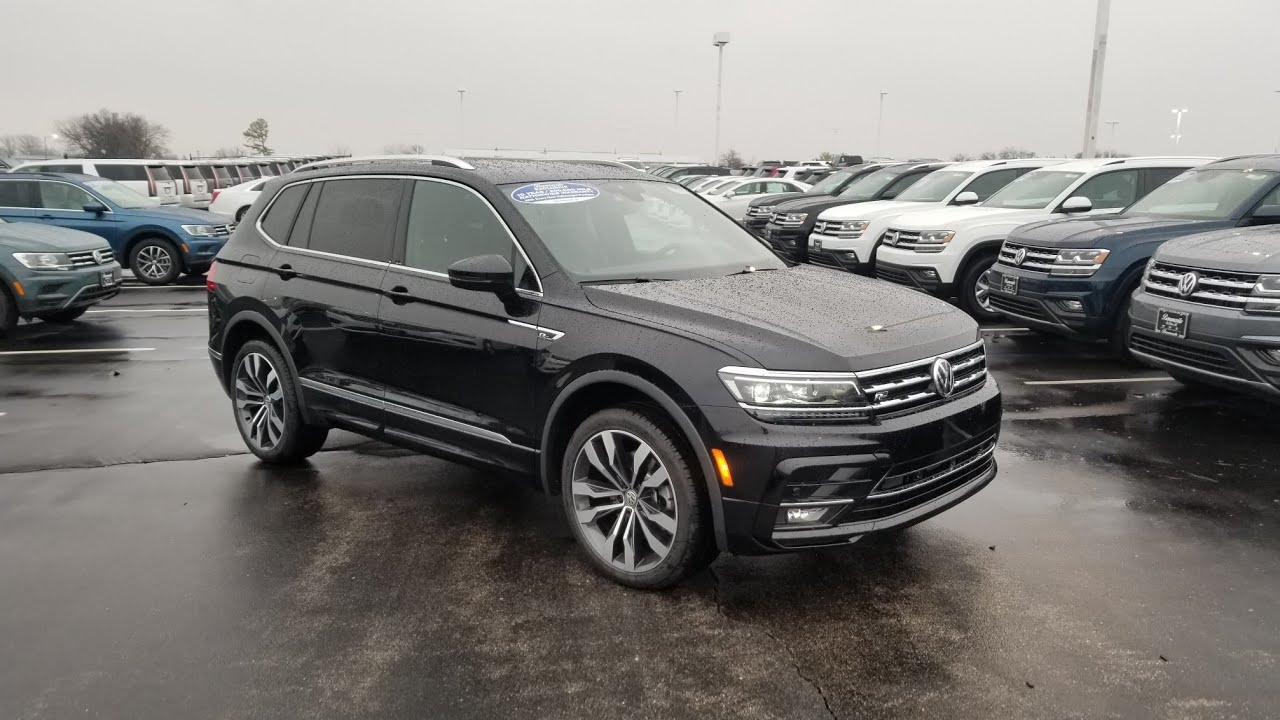 2020 Vw Tiguan 2 0t Sel Premium R Line 4motion W 3rd Row Seats And Wireless Charging Youtube