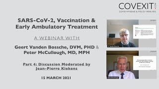 A Discussion with Geert Vanden Bossche, DVM, PHD & Peter McCullough, MD, MPH