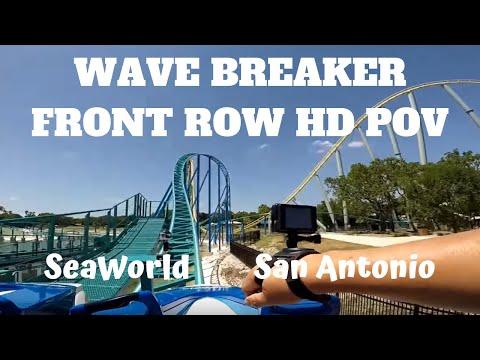 Wave Breaker FRONT ROW HD POV SeaWorld San Antonio!