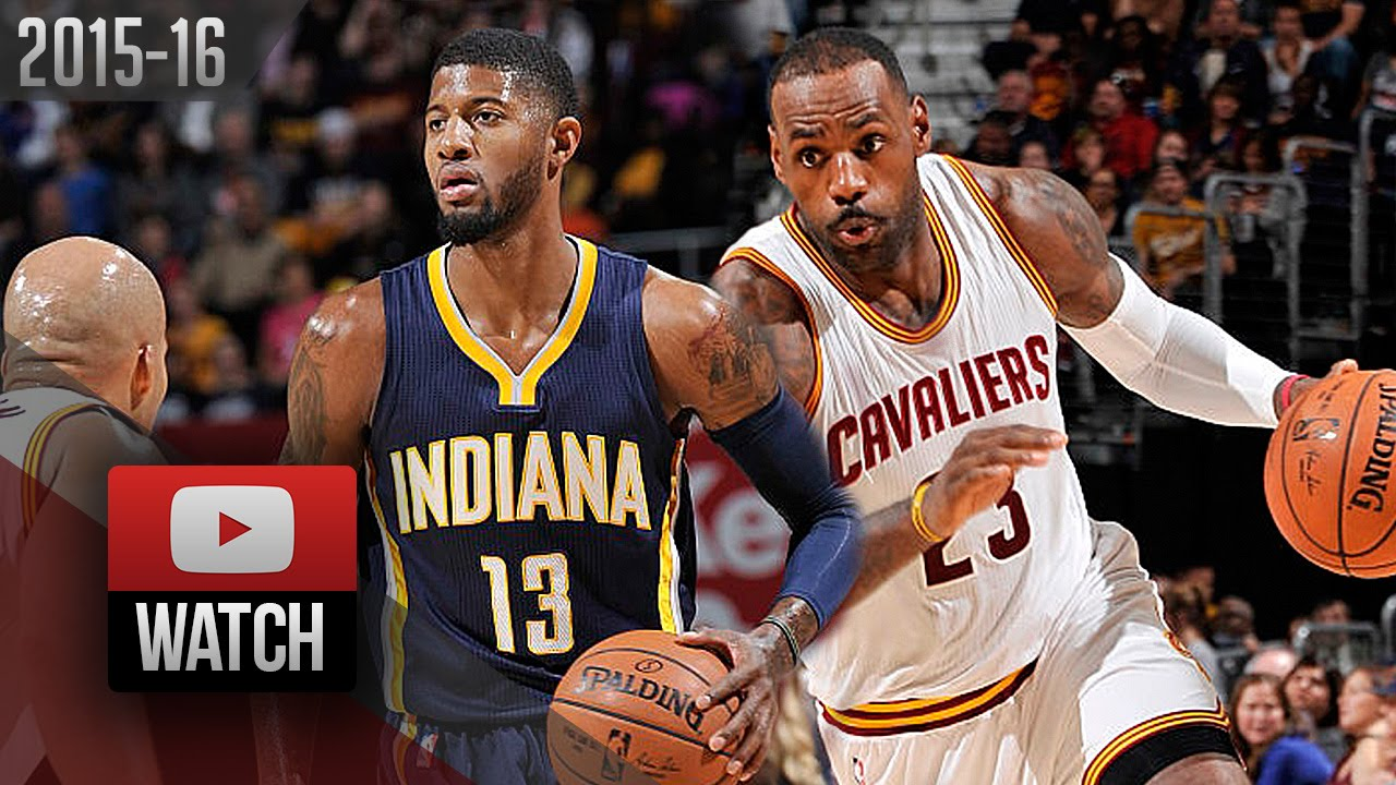 e4b0861b91a LeBron James vs Paul George Duel Highlights (2015.11.08) Cavaliers vs Pacers  - EPIC! - YouTube