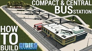 How to build a CENTRAL BUS STATION! (+Download) (no mods needed) [ENGLISH/GERMAN] | Cities: Skylines