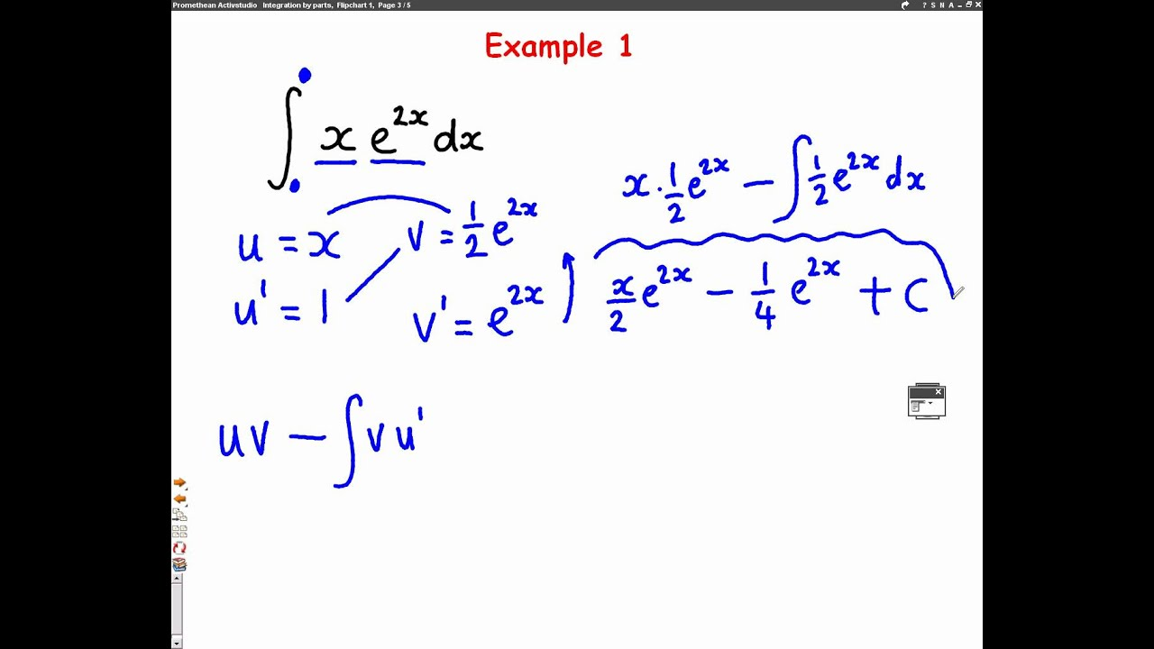 C4 Integration By Parts L1 Mathscast Youtube