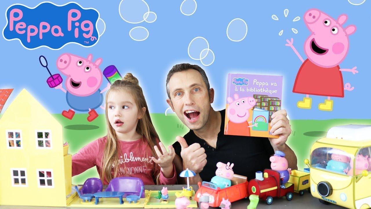 Peppa Pig Le Centre Medical La Classe D Ecole Et Le Livre Les Jouets De Noel 2018 Youtube