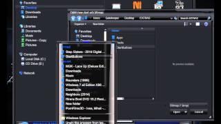 Windows 7 Infinium 3D desktop