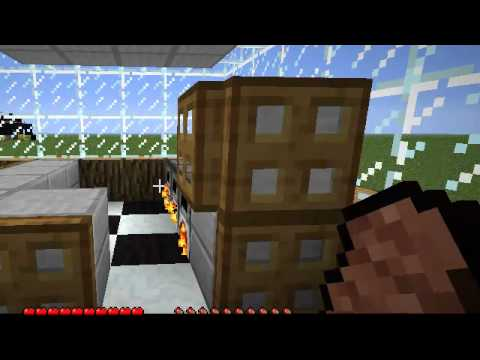 Decoraci n cocina moderna en minecraft youtube for Decoracion cocinas modernas