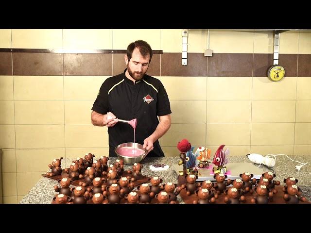 Vernissage de Pâques 2020 Jouvenal - Comment fait-on le chocolat de couleur ? 7/11
