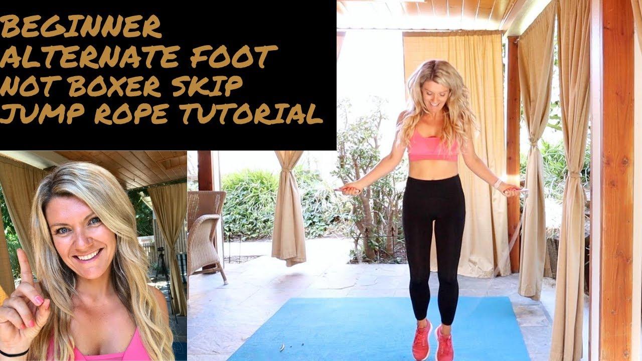 Beginner jump rope alternate foot tutorial