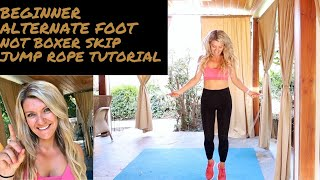 Beginner jump rope alternate foot tutorial