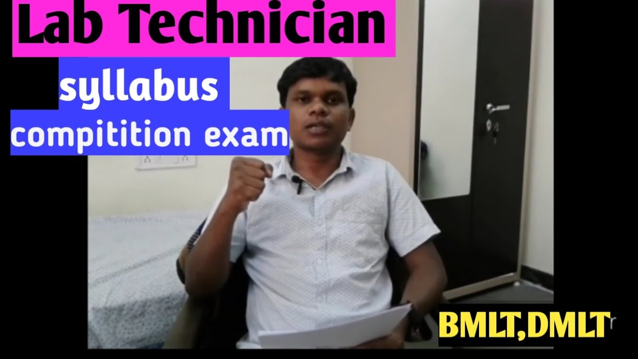 Lab Technician Syllabus For Compitition Exam Gov T Job Youtube