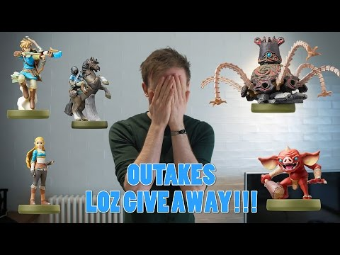 OUTTAKES: Legend of Zelda Breath Of The Wild Amiibo Giveaway!