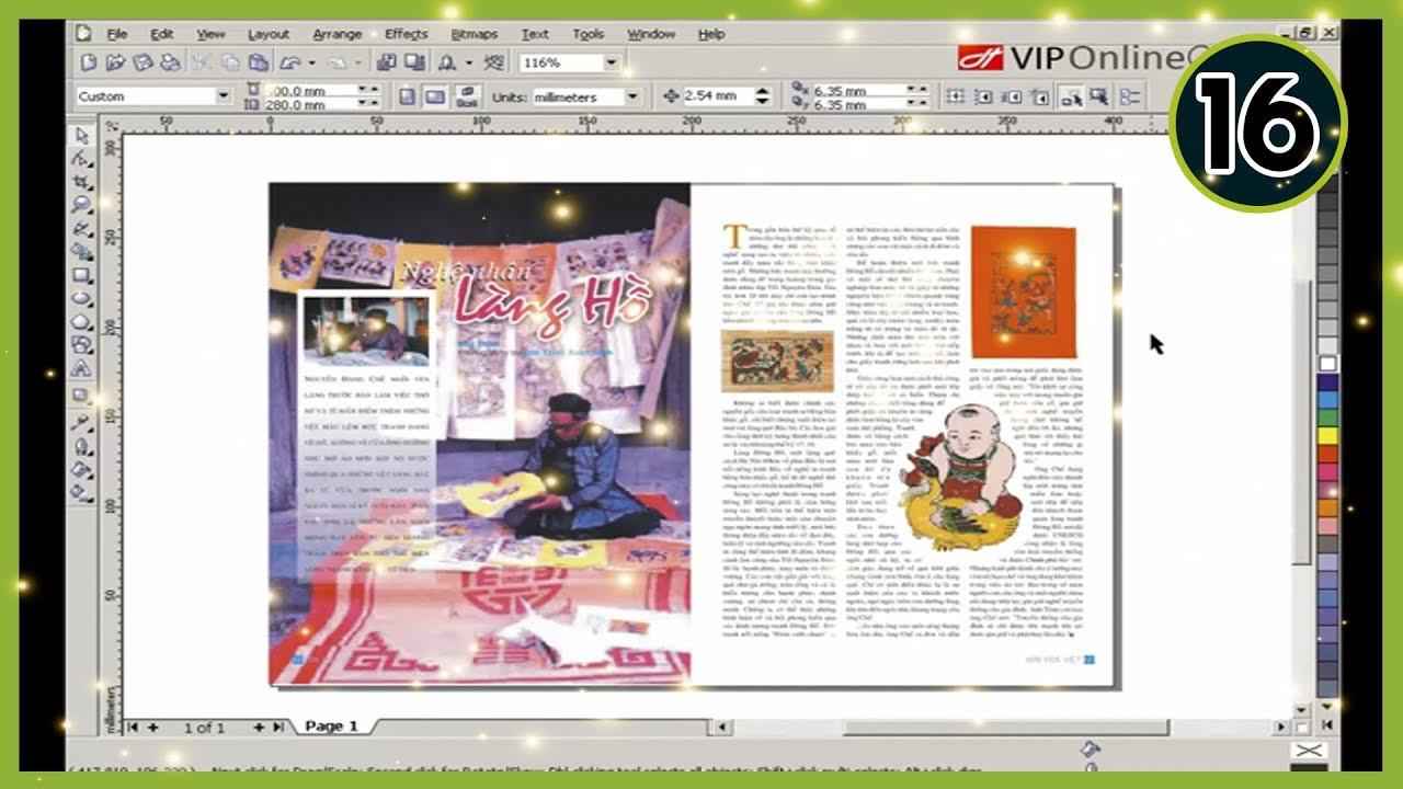 Tự Học CorelRaw thiết kế đồ hoạ 2D | Bài 16 – Trình bày dàn trang sách báo