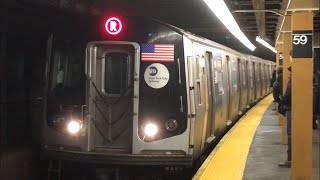 BMT 4th Ave Line: (N) (Q) (R) Local Trains @ 59th Street (R46, R160A-2, R160B)