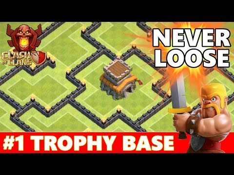Clash Of Clans | Best TownHall 8 (TH8) Trophy Base Defense | New Dark Spell Factory & Air Sweeper