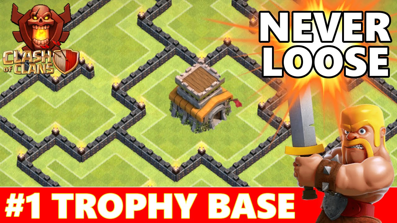 Clash of clans best townhall 8 th8 trophy base defense new dark