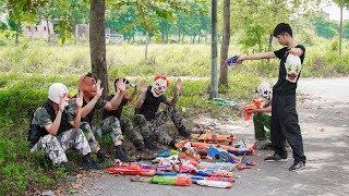 MASK Nerf War : Special Warrior Alpha Nerf Guns Battle With Criminal Group Mask