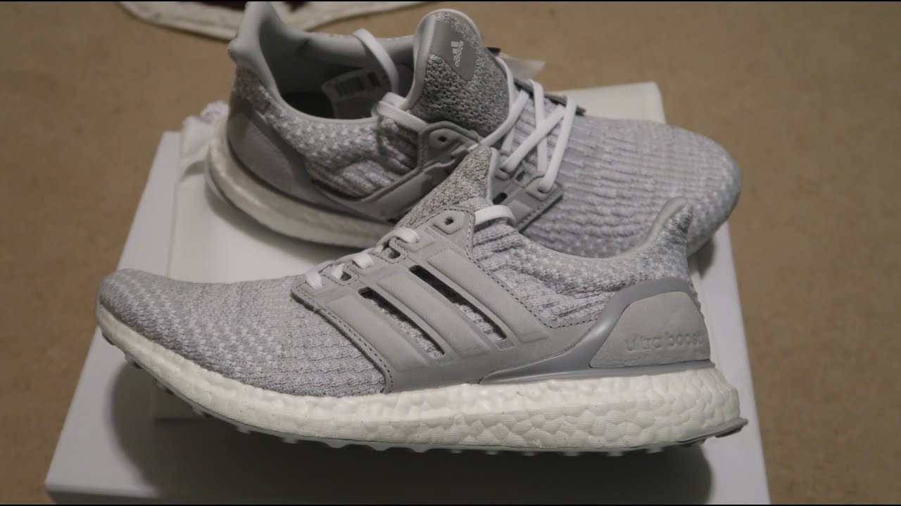 61799fb3bb3 Reigning Champ x Adidas Ultra Boost 3.0  Grey  Sneaker Unboxing ...