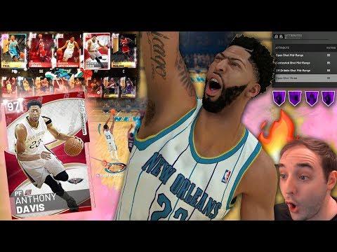 NBA 2K19 My Team PINK DIAMOND ANTHONY DAVIS! OH HE MAD HUH LMFAO!