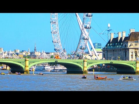 London River Themse - Bridges and cars - slideshow 4K Travel. Лондон - Темза, мосты, автомобили.