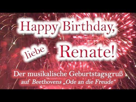 Happy Birthday, liebe Renate! Alles Gute zum Geburtstag!