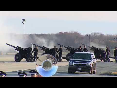 President George H.W. Bush Casket Arrival Ceremony -