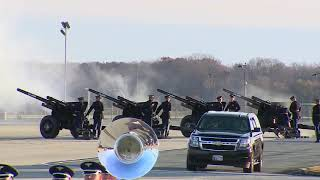"President George H.W. Bush Casket Arrival Ceremony - ""Hail To The Chief"" / ""My Country 'Tis of Thee"""