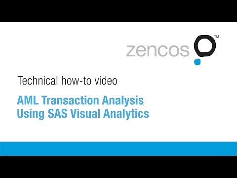 AML Transaction Analysis Using SAS Visual Analytics