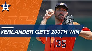 Justin Verlander picks up his 200th career win