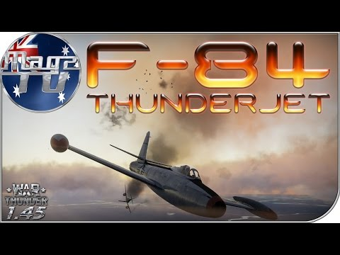 War Thunder - F-84 ThunderJet - Realistic Battle