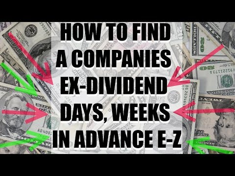 Free Stock Market Tools: How To Find Ex Dividend Date Days, Weeks, Months In Advance!