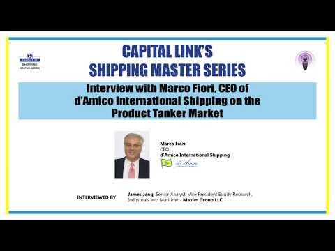 Interview with Marco Fiori, CEO of d'Amico International Shipping on the Product Tanker Market