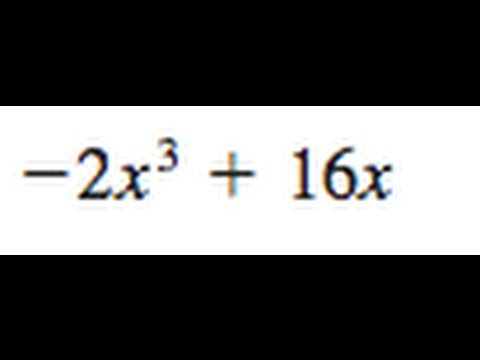 Factor -2x^3 + 16x