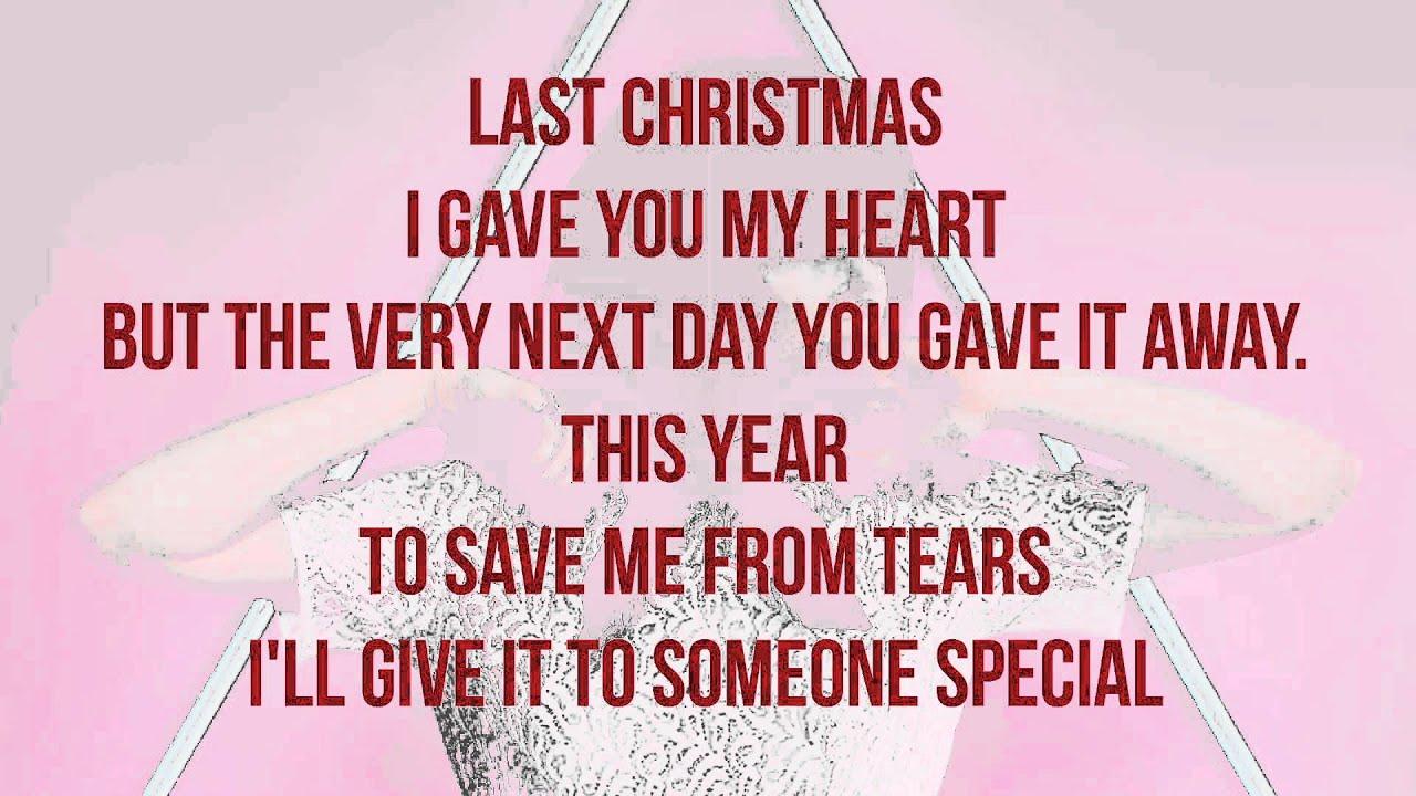 Carly Rae Jepsen - Last Christmas (Lyrics) - YouTube