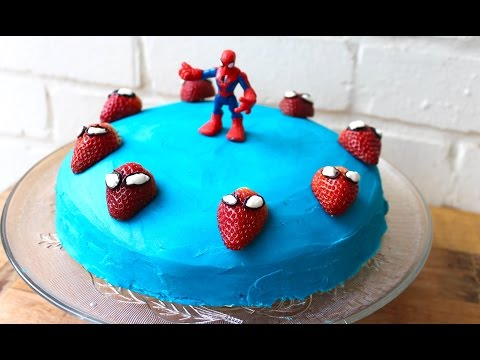 Easy birthday cake idea: How to make a Spiderman cake