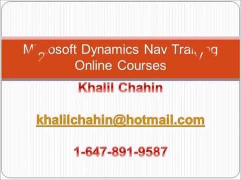 Toronto-Microsoft Dynamics Nav 2016 Trainer. Onsite per request Courses khalilchahin@hotmail.com