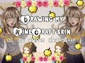(Watch me draw and color) Re-creating my Minecraft skin: Cute Anime girl