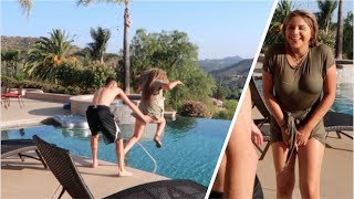 PUSHED HER IN THE POOL PRANK! (With clothes on!!)