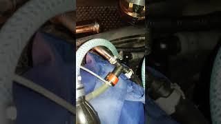 Слив обратки в канистру с заглушенной обраткой на фильтре