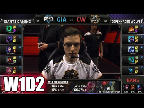 GIANTS vs Copenhagen Wolves | S5 EU LCS Spring 2015 Week 1 Day 2 | GIA vs CW W1D2G2 Full VOD HD