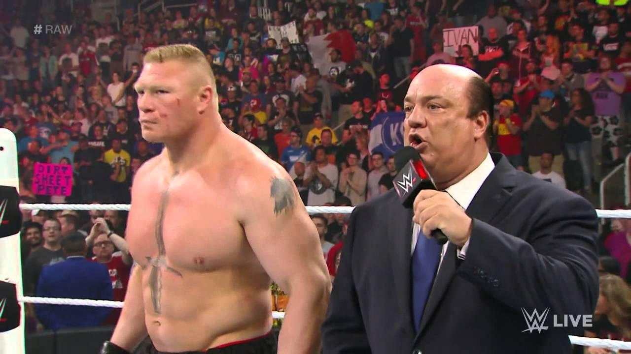 Brock Lesnar Demands A WWE World Heavyweight Title Rematch With Seth