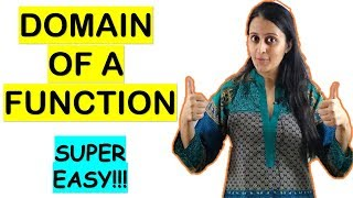 DOMAIN OF A FUNCTION FOR CBSE/ISC/JEE/NDA/CET/BANKING/GRE/MBA/COMEDK