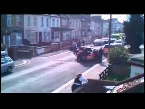 Dog attacks police officers in east London
