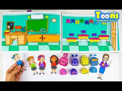 🏫🎒HOW TO MAKE SCHOOL FOR PAPER DOLLS PAPERCRAFTS FOR KIDS DOLLHOUSE IN ALBUM