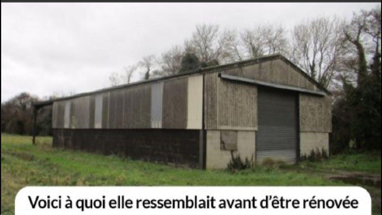 Il transforme un vieux hangar agricole en maison de luxe de 1 7 m youtube - Hangar maison ...